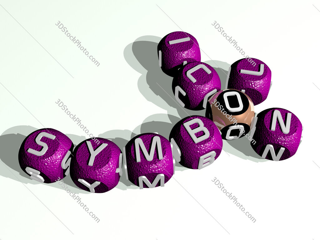 symbol icon curved crossword of cubic dice letters
