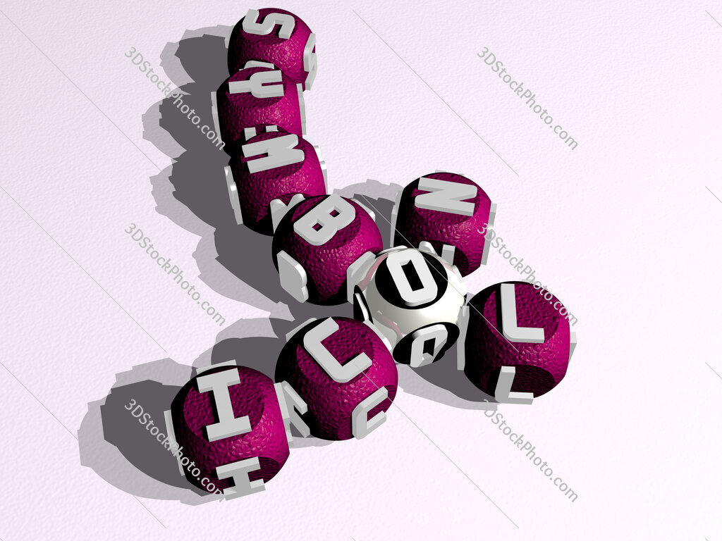 icon symbol curved crossword of cubic dice letters