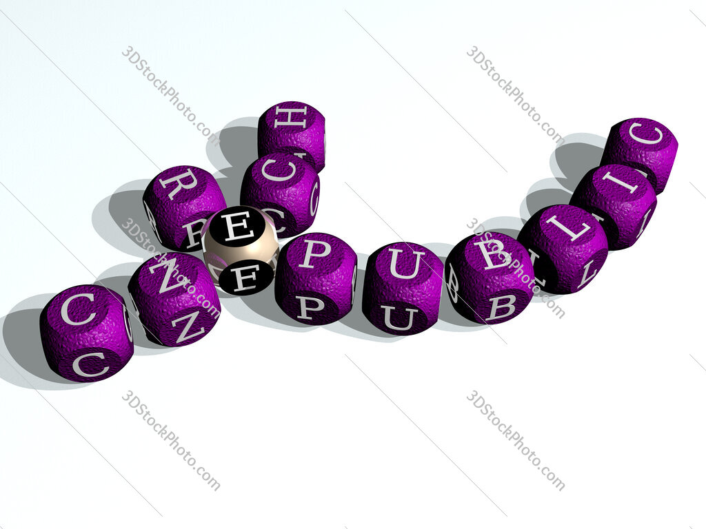 czech republic curved crossword of cubic dice letters