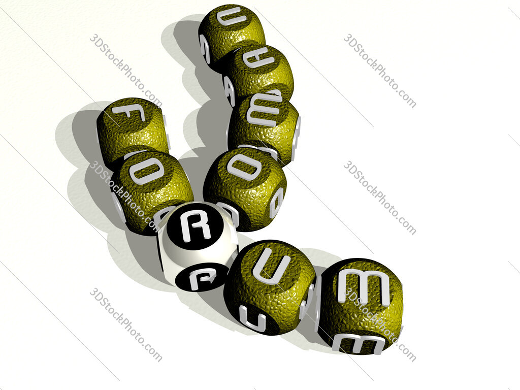 roman forum curved crossword of cubic dice letters