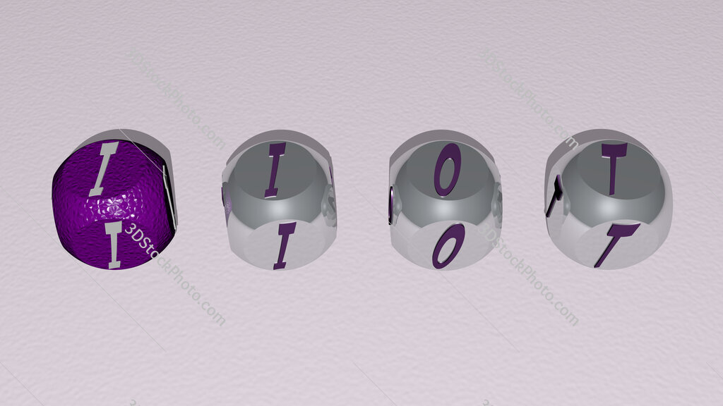 iiot text by cubic dice letters