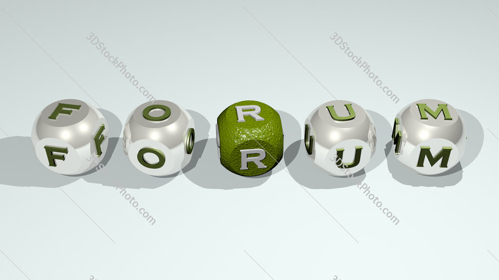 Forum text of cubic individual letters