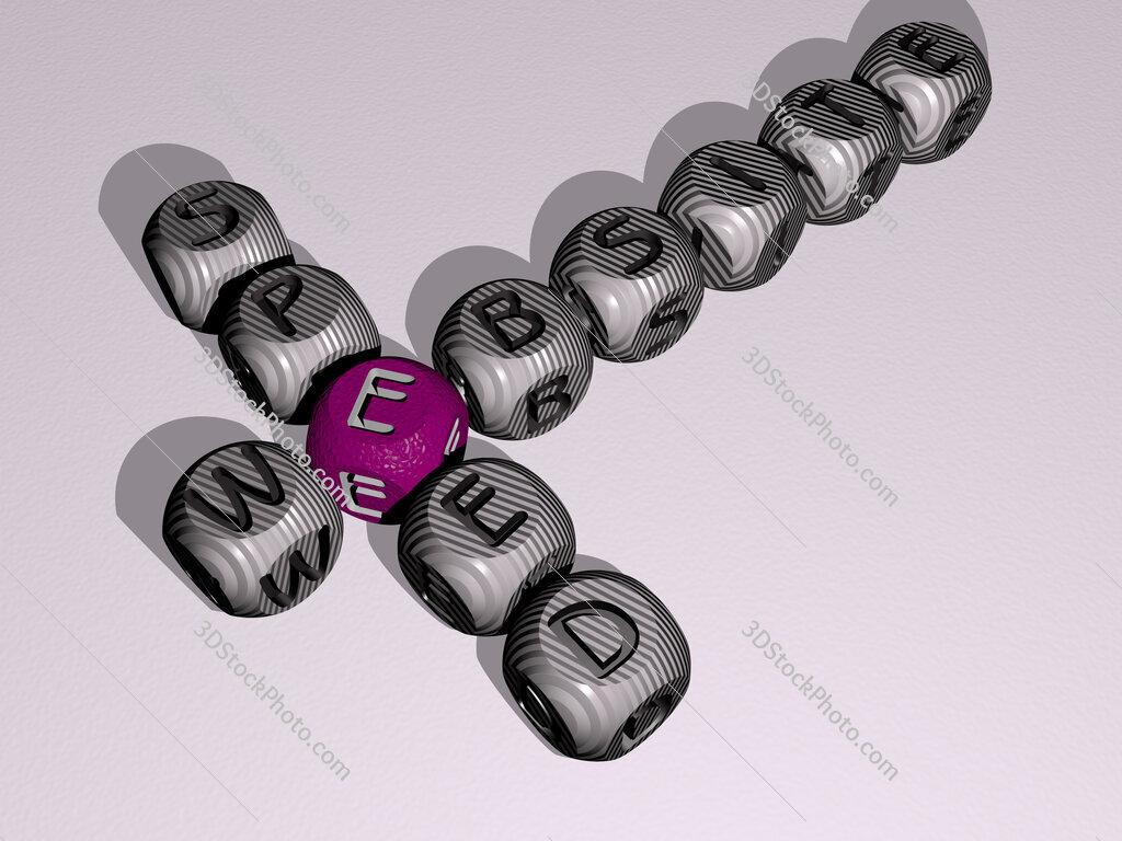 website speed crossword of dice letters in color