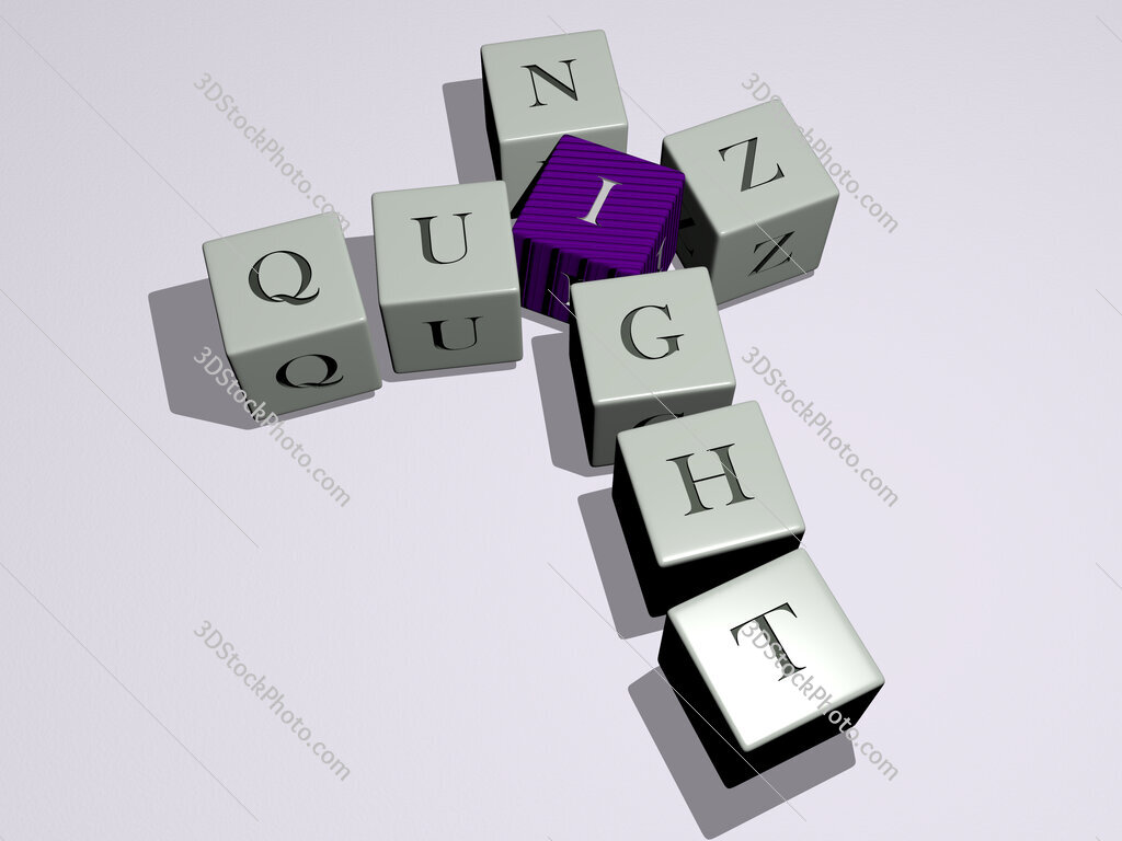 quiz night crossword by cubic dice letters