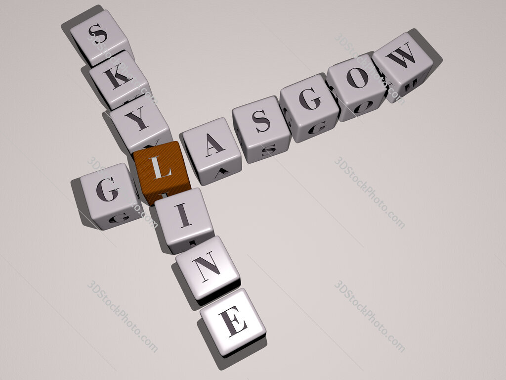 glasgow skyline crossword by cubic dice letters