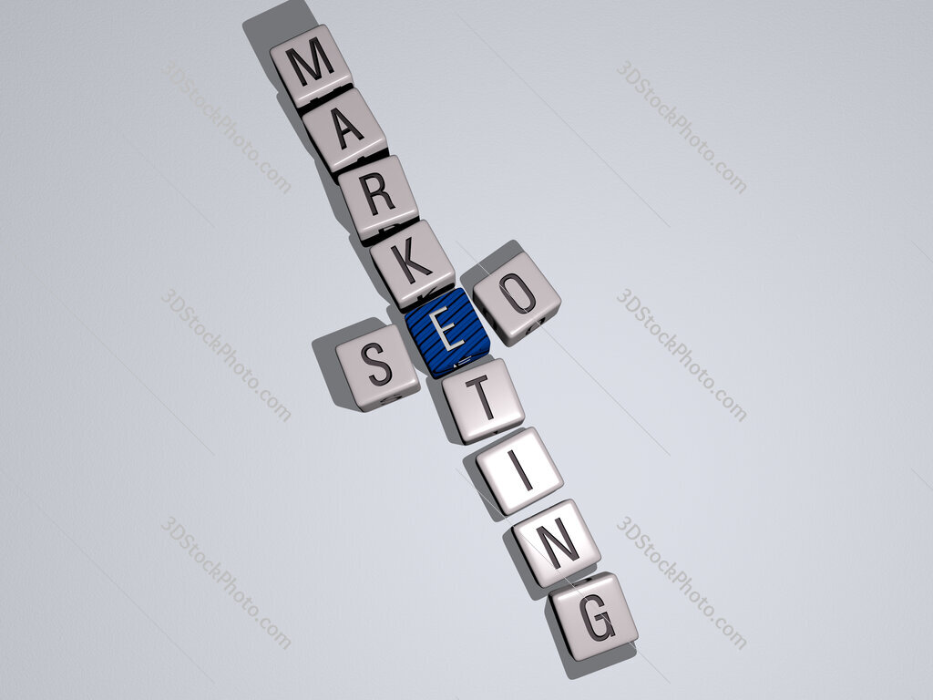seo marketing crossword by cubic dice letters