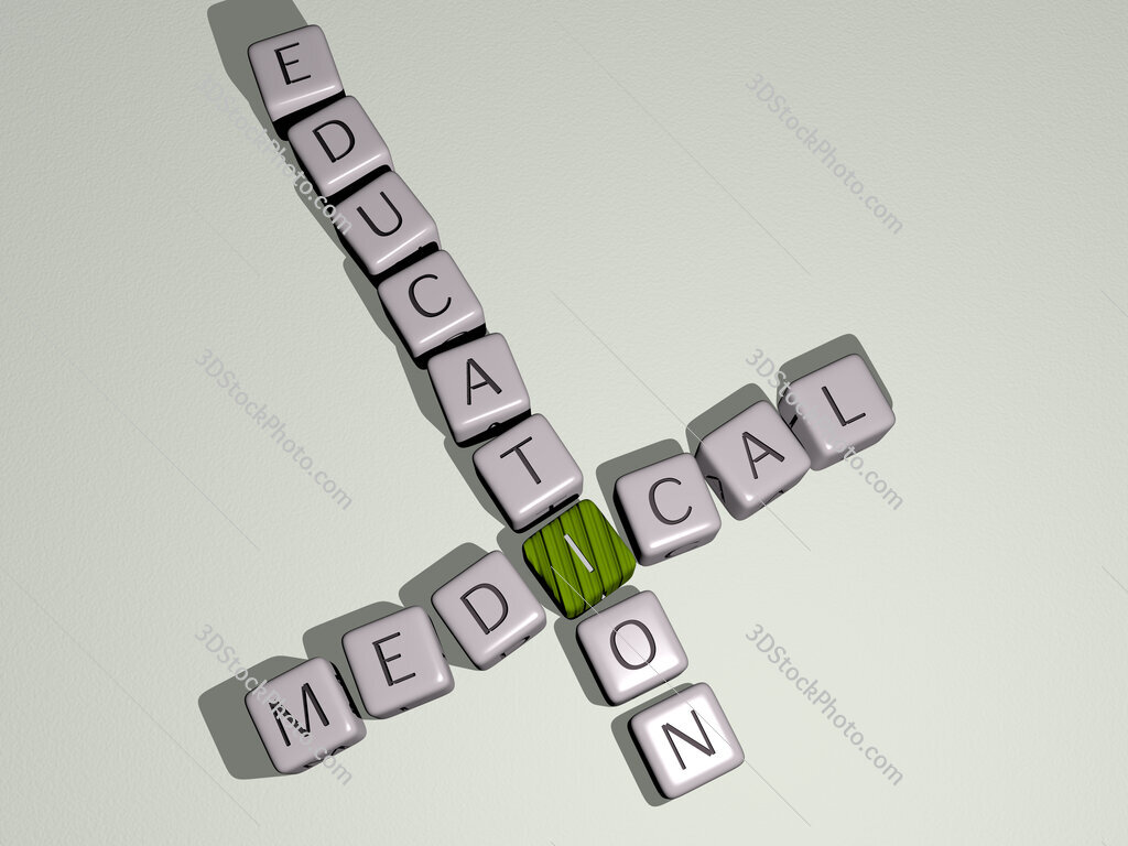 medical education crossword by cubic dice letters