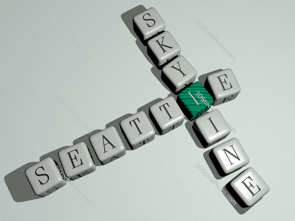 seattle skyline crossword by cubic dice letters