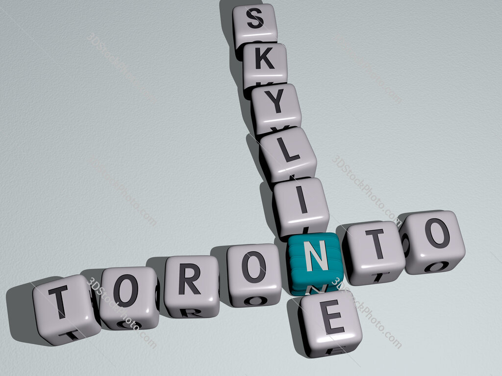 toronto skyline crossword by cubic dice letters