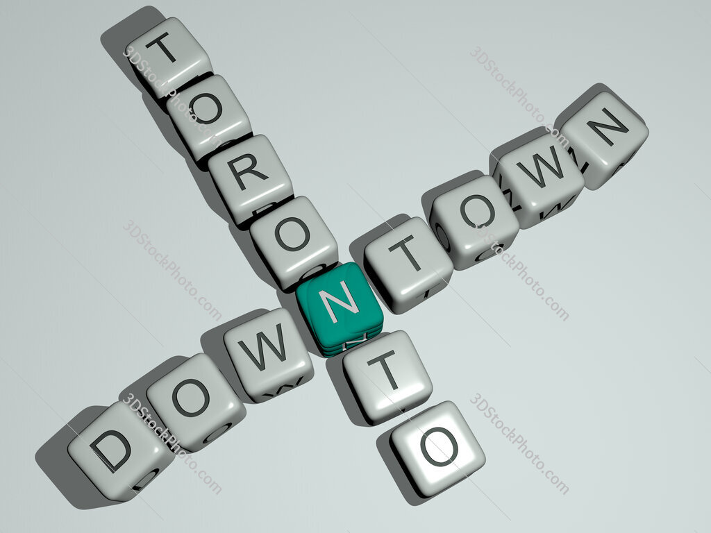 downtown toronto crossword by cubic dice letters