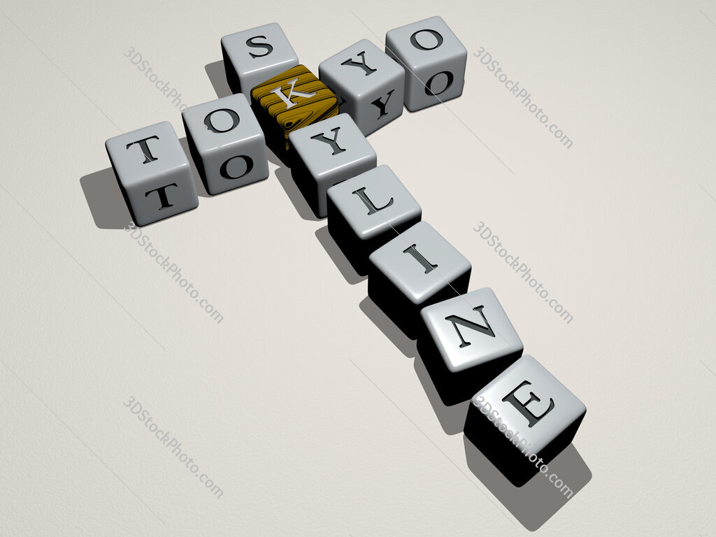 tokyo skyline crossword by cubic dice letters