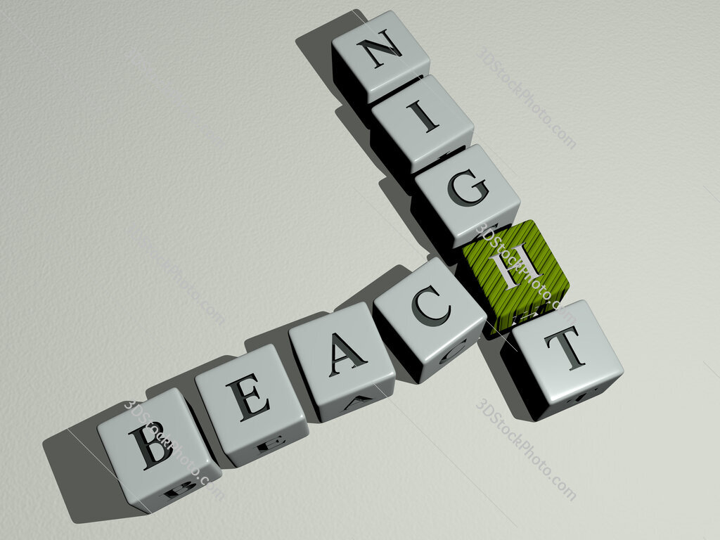 beach night crossword by cubic dice letters