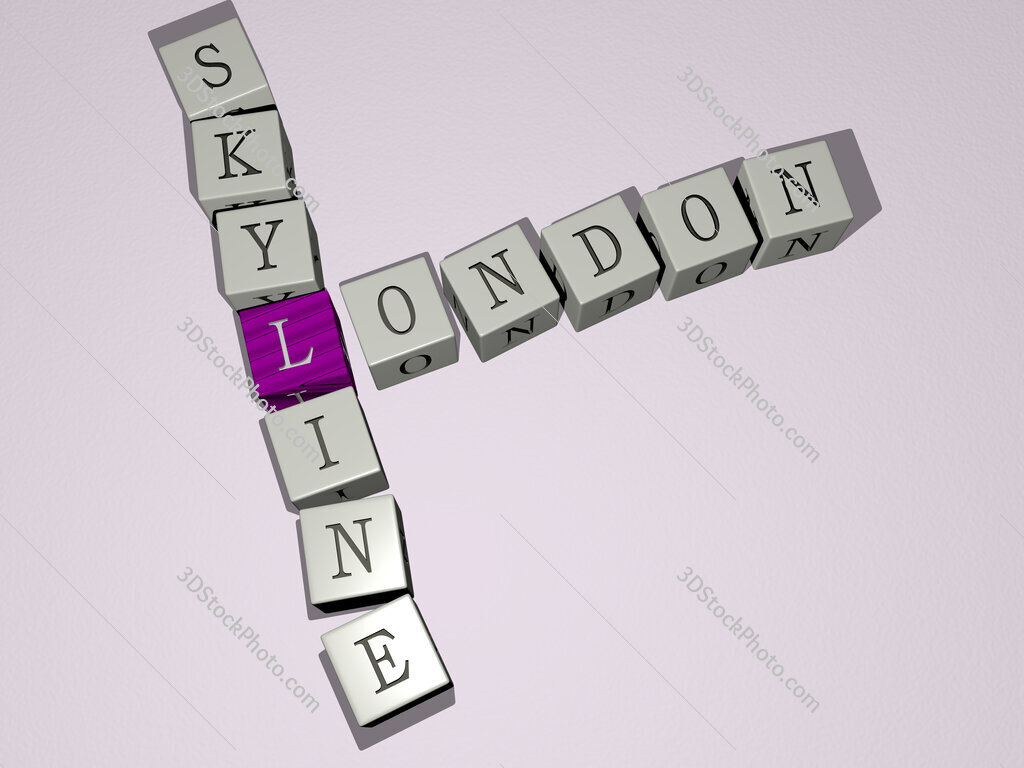 london skyline crossword by cubic dice letters
