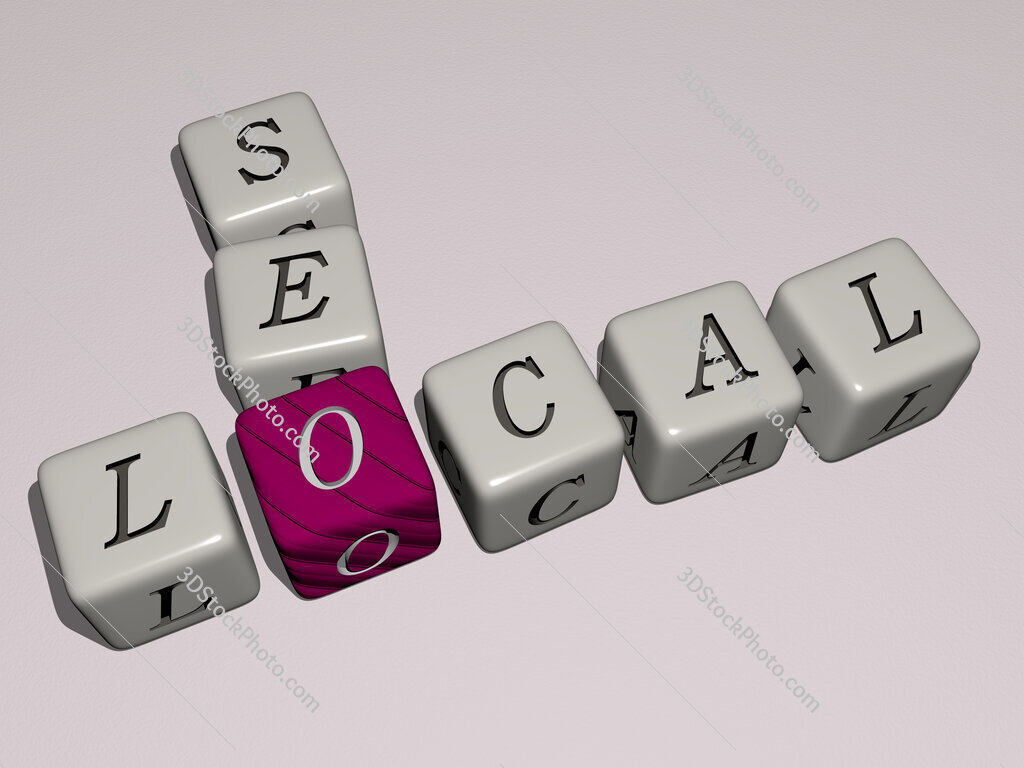 local seo crossword by cubic dice letters