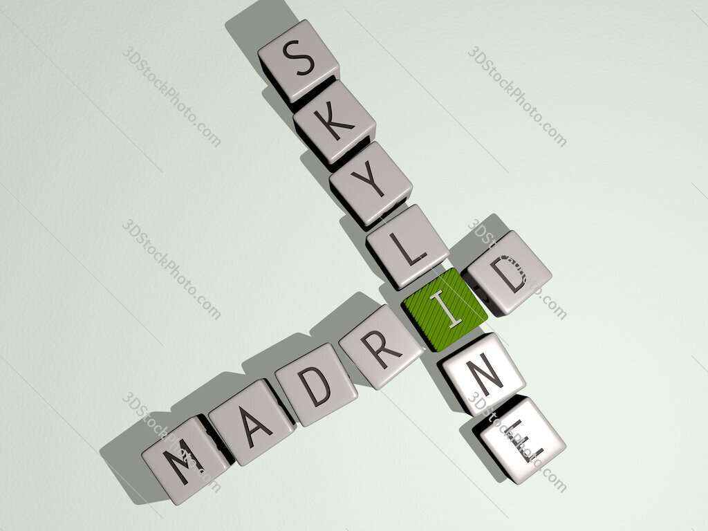 madrid skyline crossword by cubic dice letters