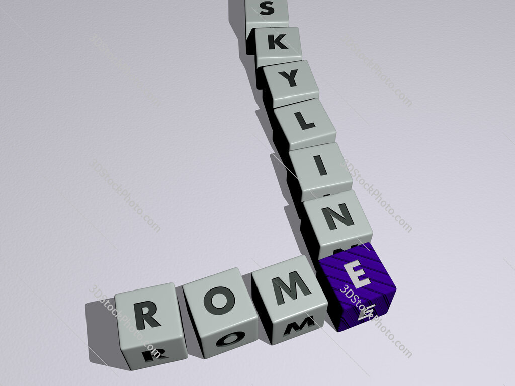 rome skyline crossword by cubic dice letters