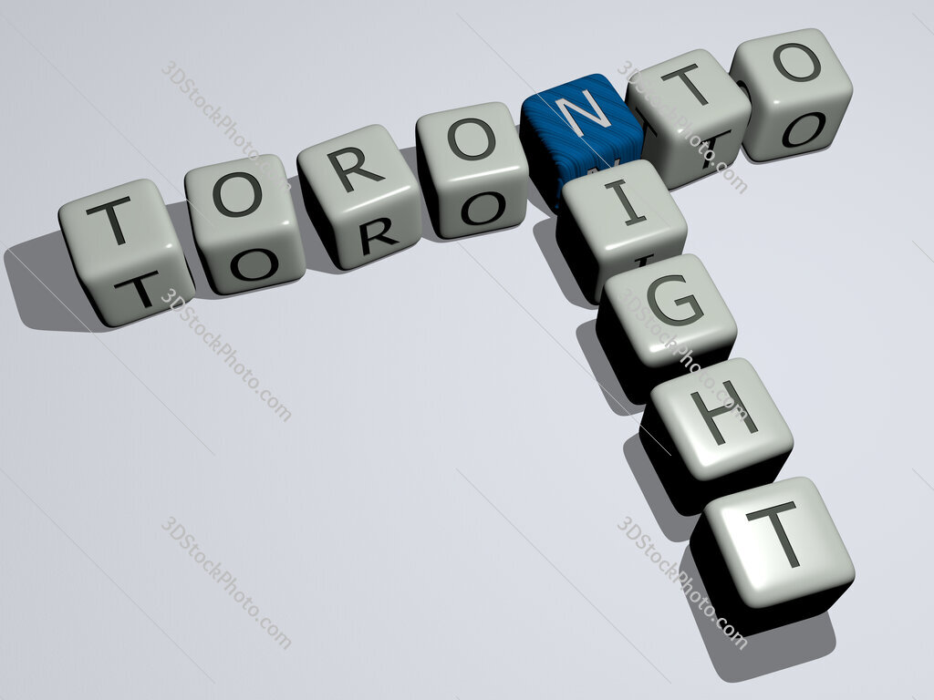 toronto night crossword by cubic dice letters