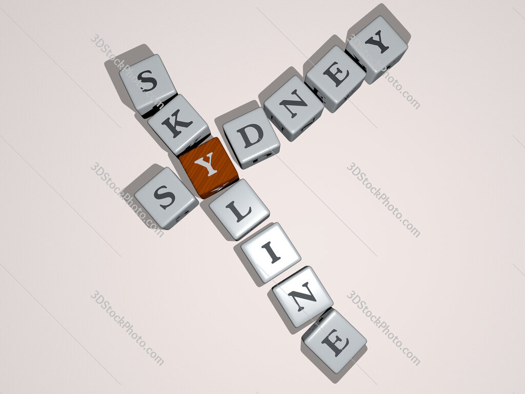 sydney skyline crossword by cubic dice letters