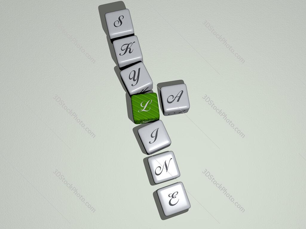 la skyline crossword by cubic dice letters