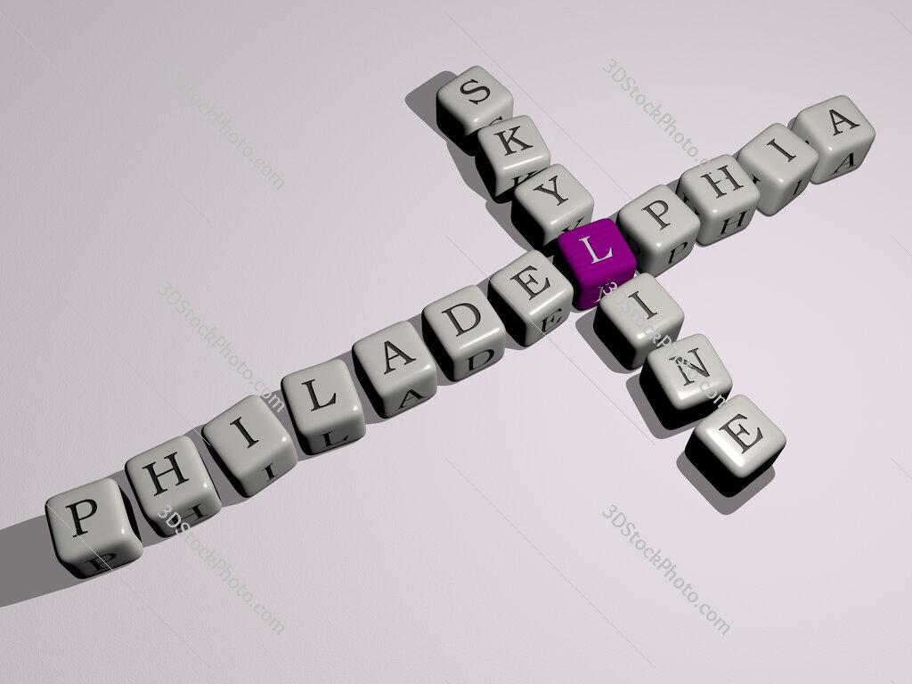philadelphia skyline crossword by cubic dice letters