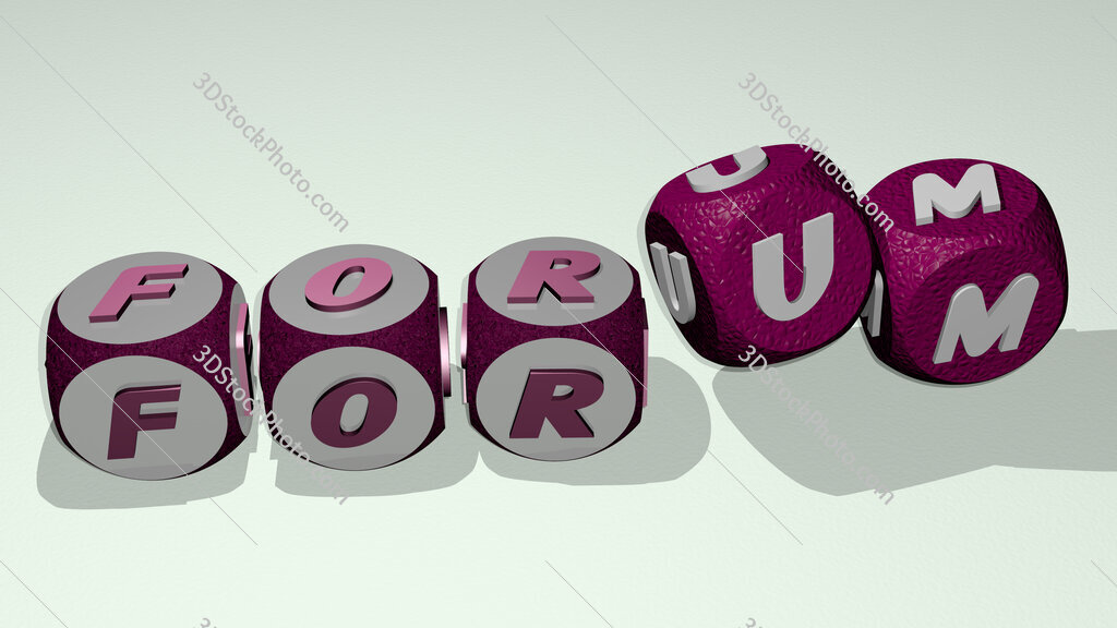 forum text by dancing dice letters
