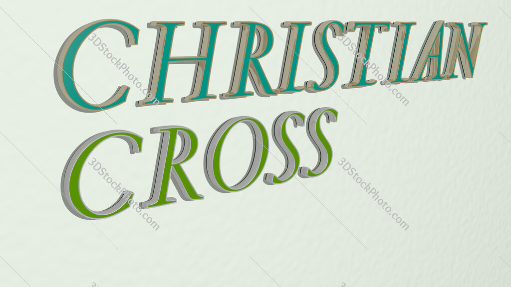 Christian cross text on the wall
