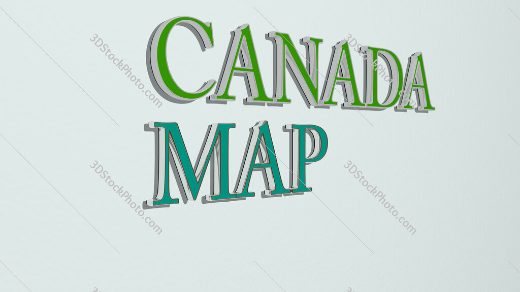 canada map text on the wall