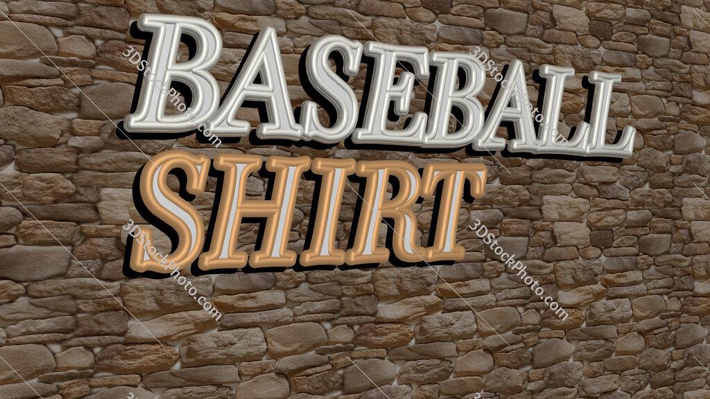 baseball shirt text on textured wall