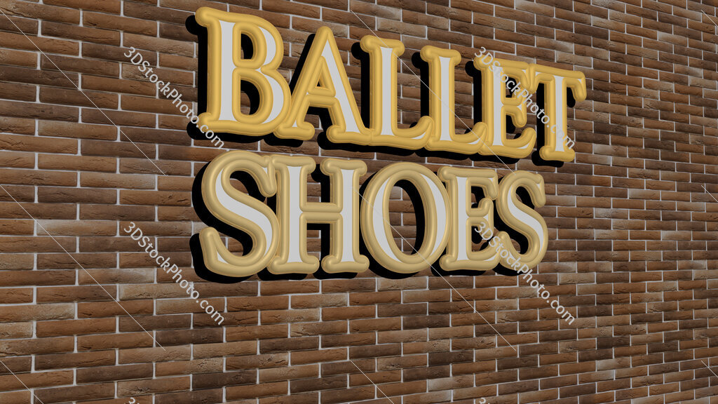 ballet shoes text on textured wall