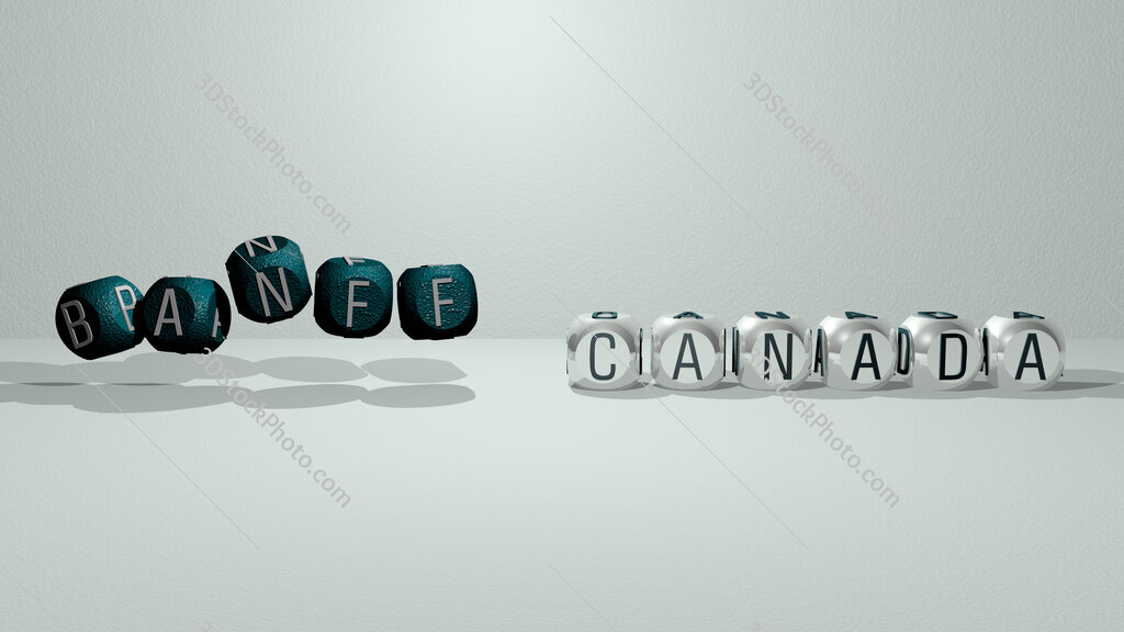 banff canada dancing cubic letters