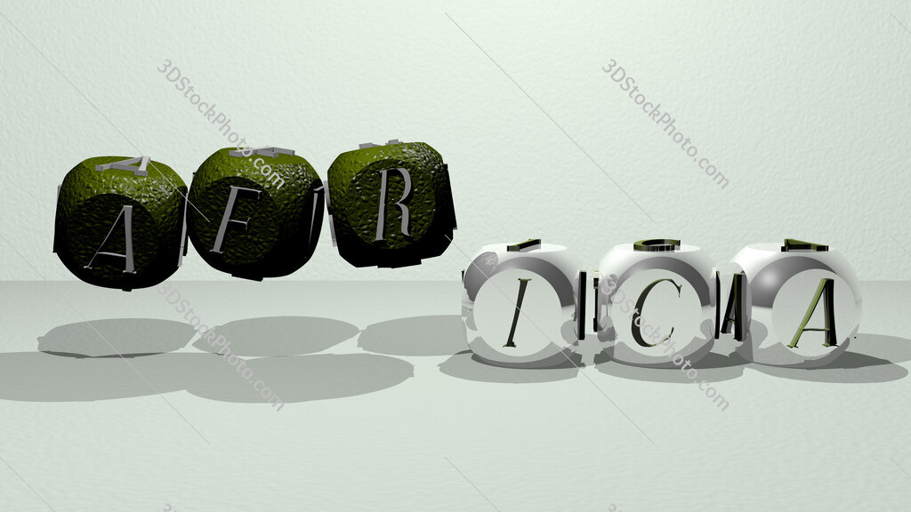 africa dancing cubic letters