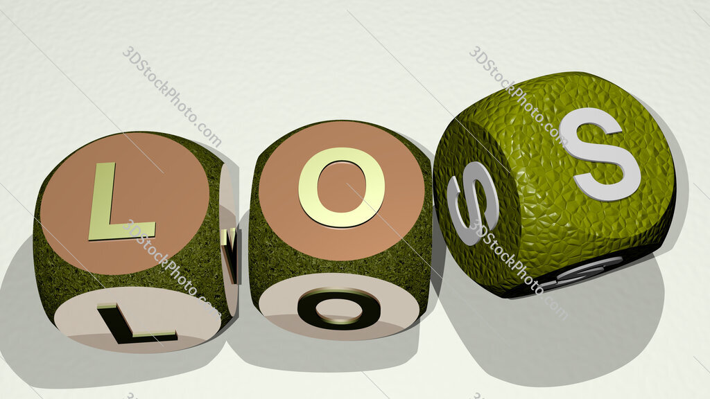 los text by dancing dice letters