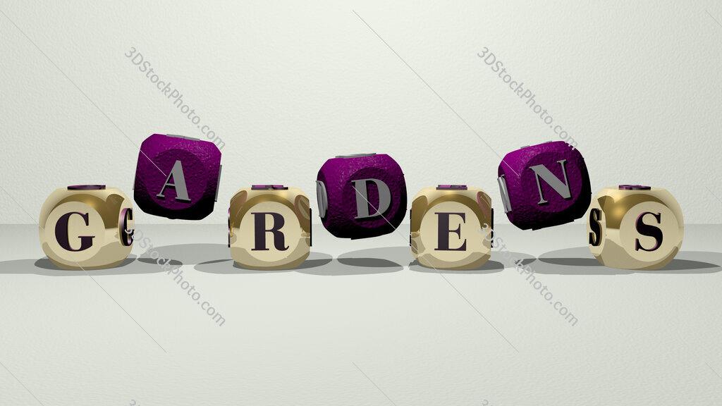 gardens dancing cubic letters