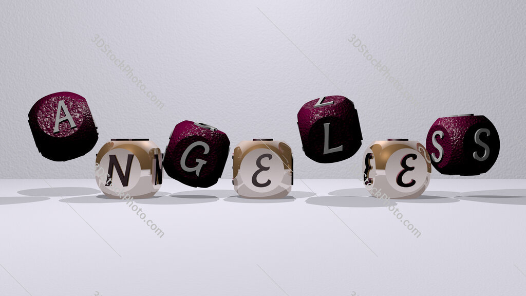 angeles dancing cubic letters