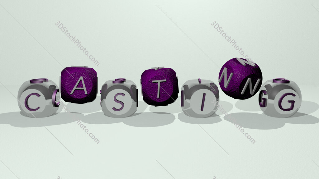 casting dancing cubic letters
