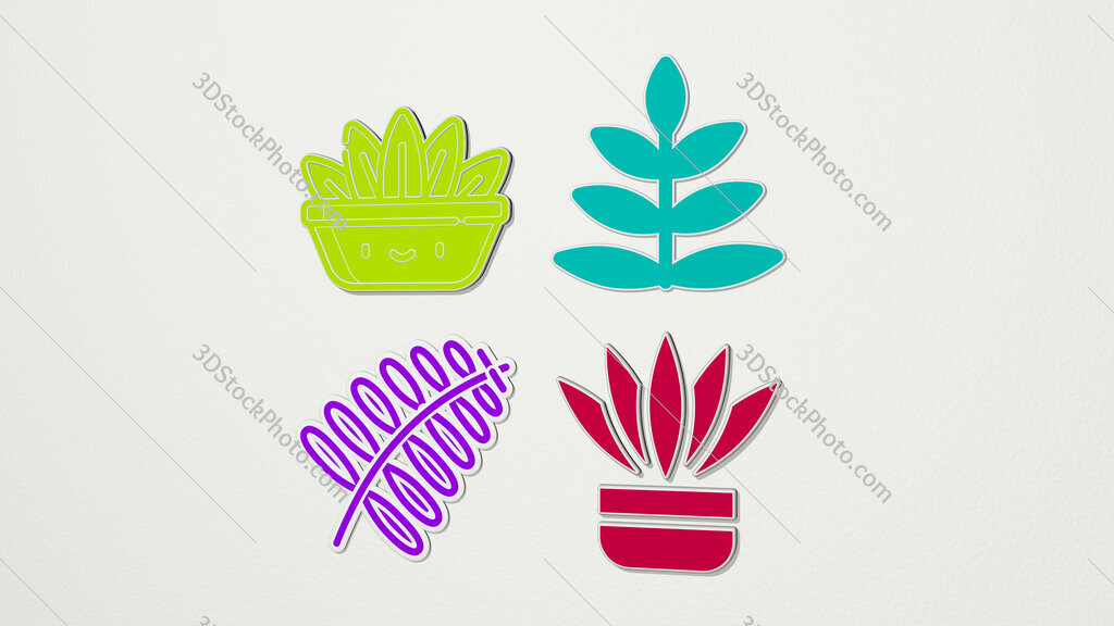 FERN colorful set of icons