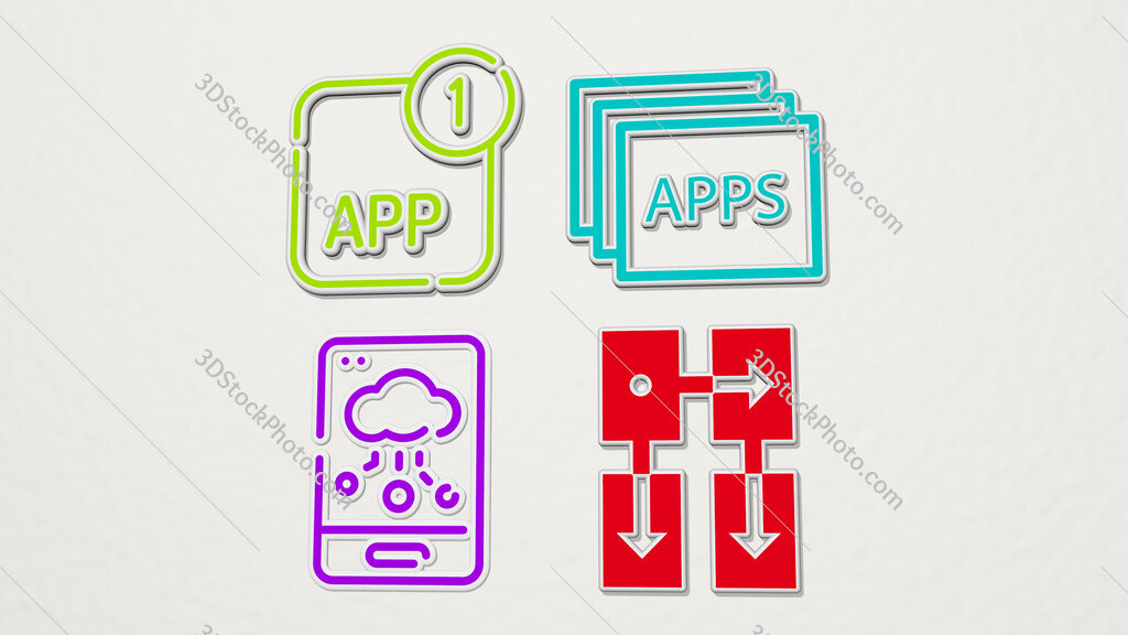 app colorful set of icons