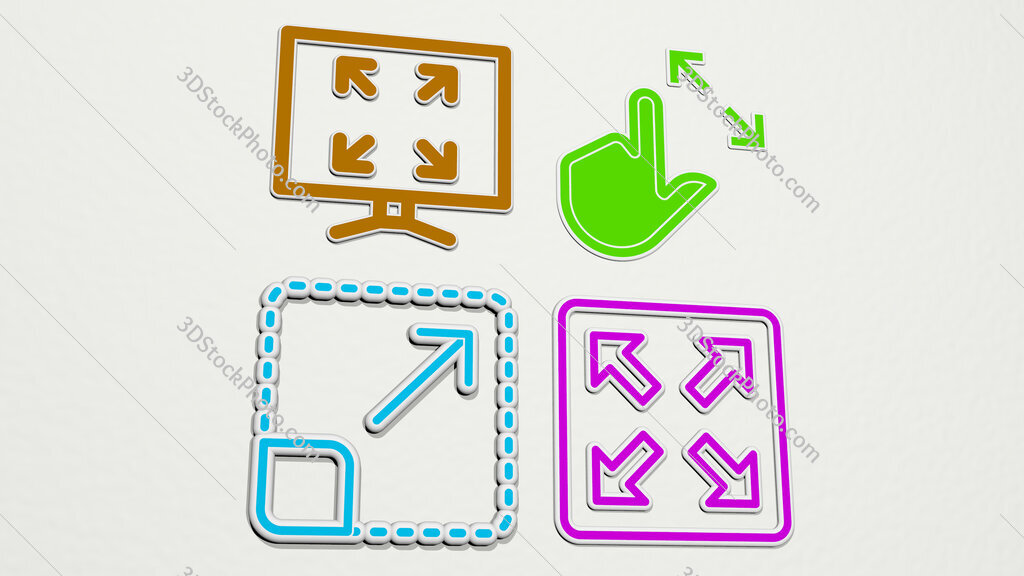 maximize colorful set of icons