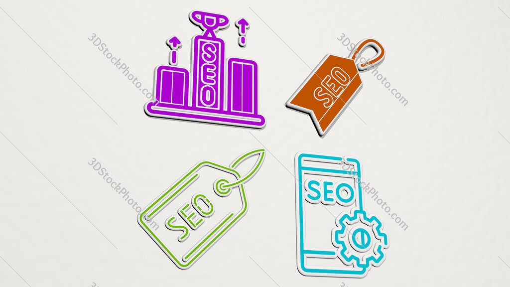 seo colorful set of icons