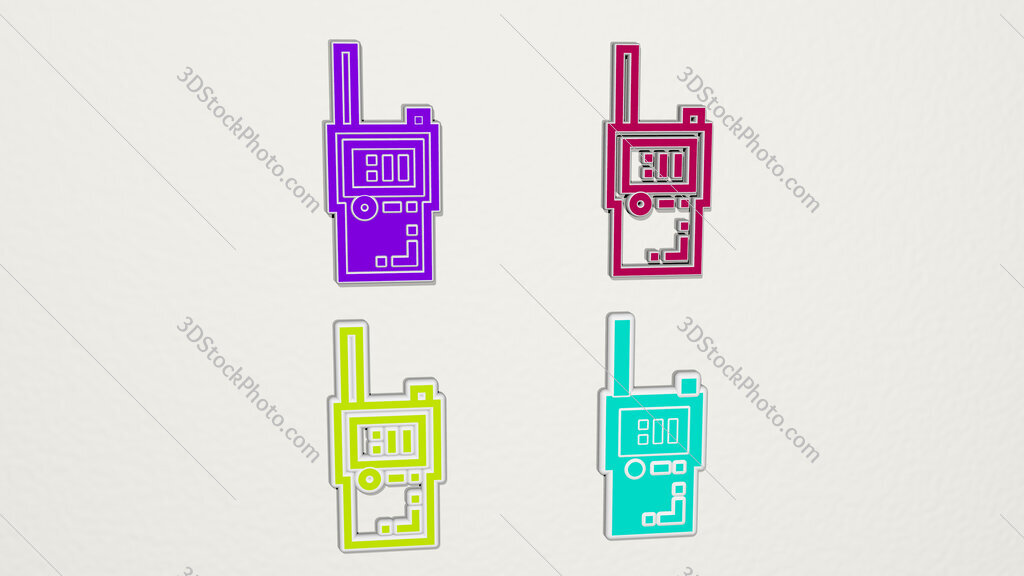bug detector colorful set of icons