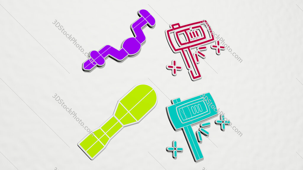 ratchet colorful set of icons