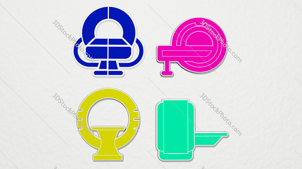 magnetic-resonance-imaging colorful set of icons