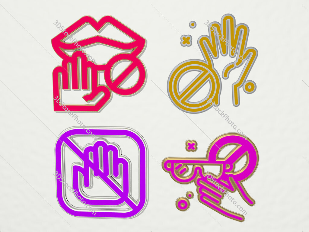 no touch 4 icons set