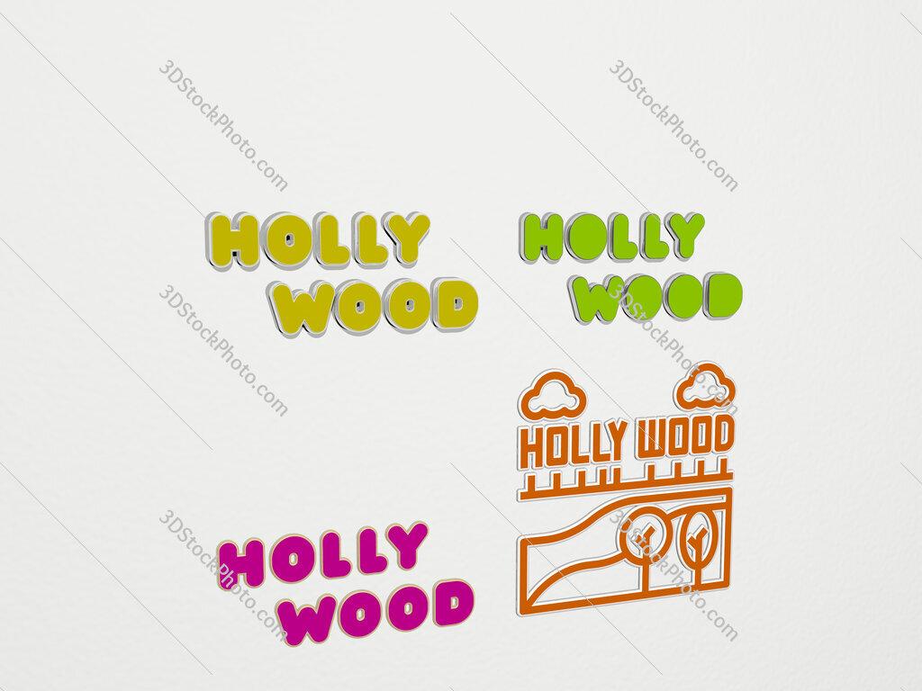 hollywood 4 icons set