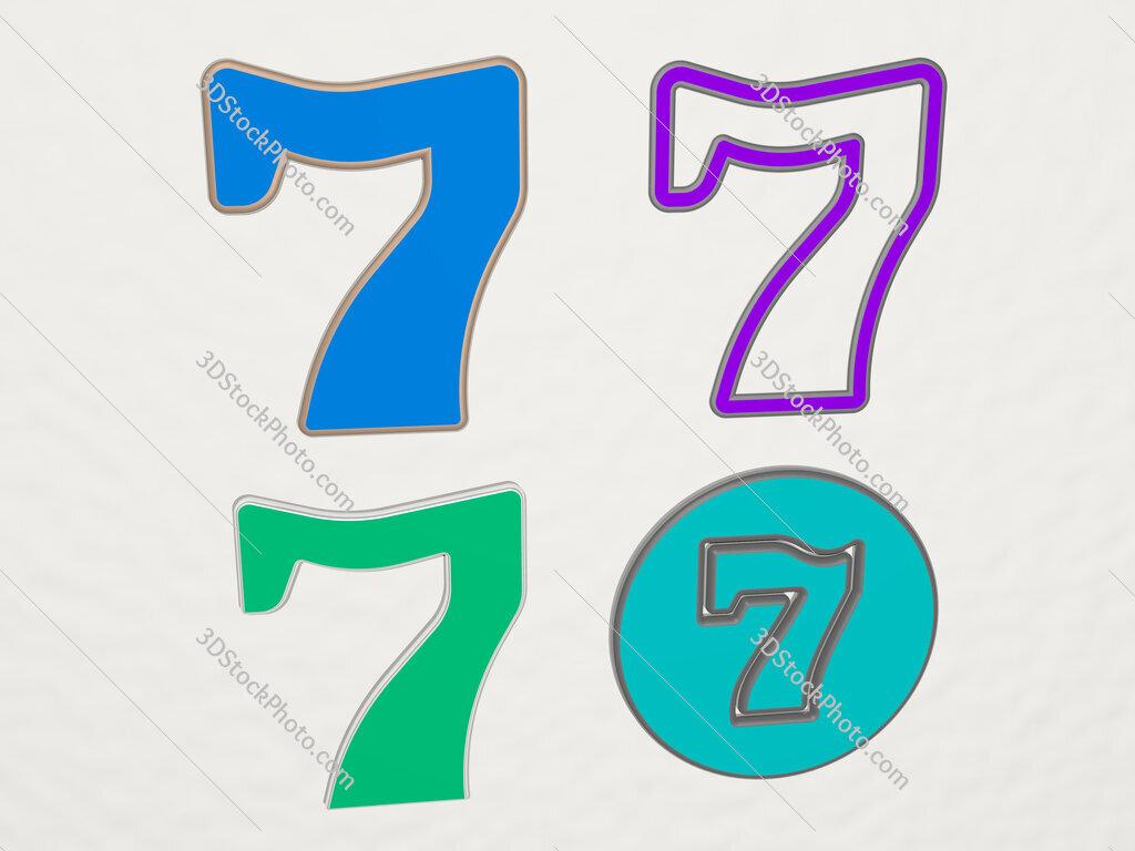 seven 4 icons set