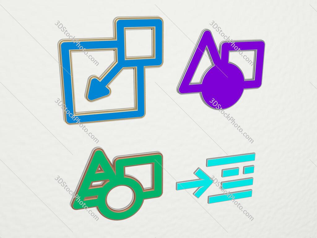 insert 4 icons set