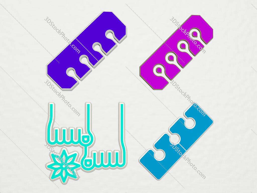 pedicure 4 icons set