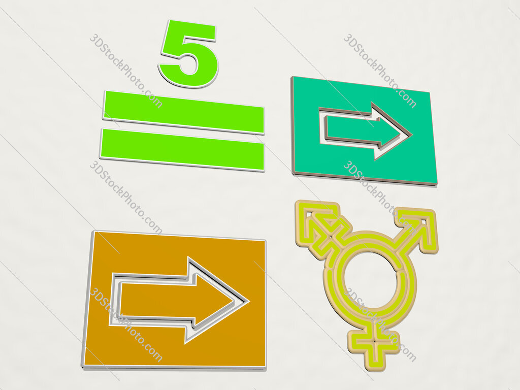 sign 4 icons set