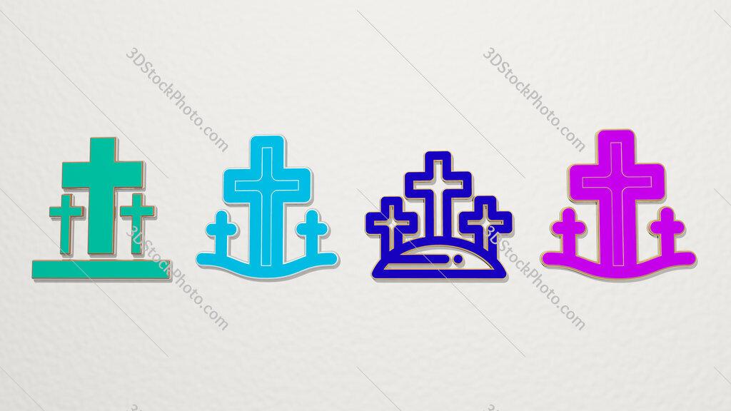 calvary 4 icons set
