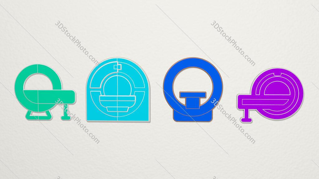 magnetic-resonance-imaging 4 icons set